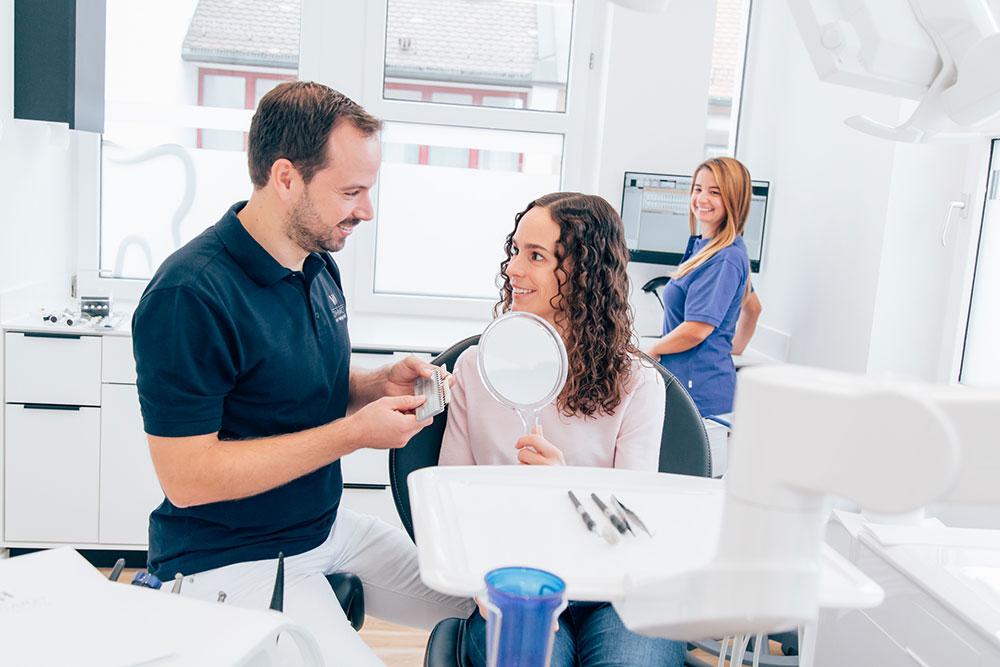 Zahnarzt Vaihingen - Wenninger - Leistungen - Ästhetische Zahnheilkunde